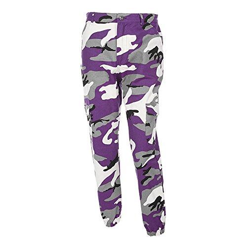 Belted Corduroy Pant - Women Camo Trouser Jogger Pants Plus Size Casual Cargo Hip Hop Rock Trousers