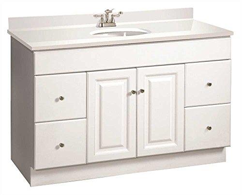 DESIGN HOUSE 103511 Wyndham Bathroom Vanity Cabinet, Ready to Assemble, 2 Door, 4 Drawer, White, 48
