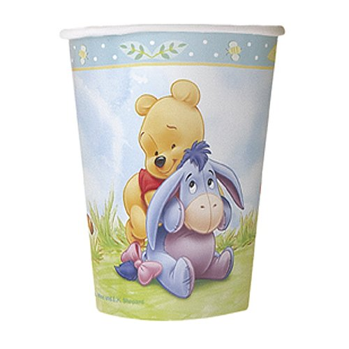 - Winnie the Pooh Baby Shower Cups [9 oz - 270 ml - 8 cups]