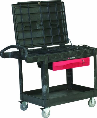 Rubbermaid-Commercial-Products-FG453588BLA-TradeMaster-Service-Cart-2-Shelves-500-Pound-Load-Capacity-37-78-Inches-x-52-12-Inches-x-38-58-Inches-Black