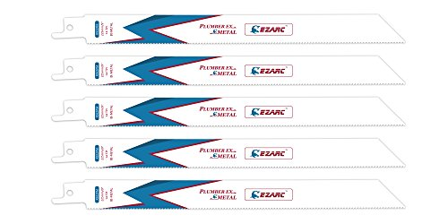 EZARC Reciprocating Saw Blade Metal Cutting 9-Inch 14TPI R922PM (5-Pack)