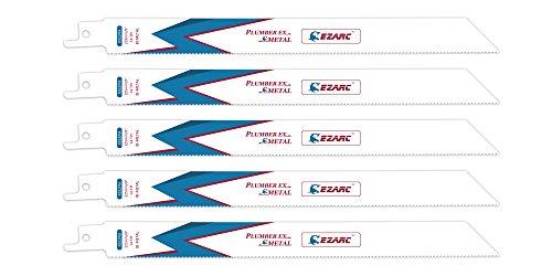 (EZARC Reciprocating Saw Blade Metal Cutting 9-Inch 14TPI R922PM (5-Pack))