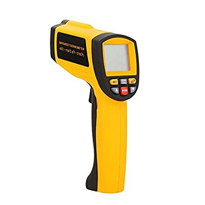 Docooler GM1150A Non-Contact 50:1 Digital Infrared IR Thermometer Laser Temperature Gun Tester Range -18~1150? (0~2102?) with LCD Backlight