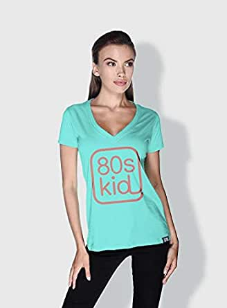Creo 80S Kid Trendy T-Shirts For Women - L, Green