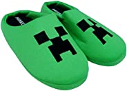Creeper Boys Slippers, Unisex Kids Green Gaming Theme Mules Shoes, Slip On for Girls