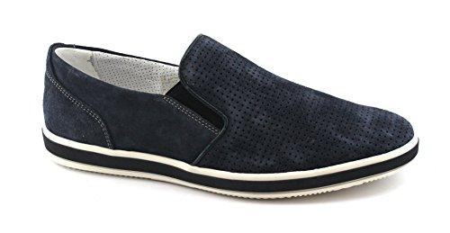 on Scarpe 1108833 Pelle Camoscio Blu Slip IGI Uomo Sneakers amp;CO Jeans Forata Blu nq68Pz5zIw