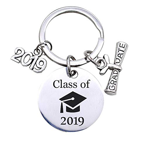 Bluelans Novelty Letter Class of 2019 Graduate Keychain Key Ring Holder Organizer Gift Mothers Day/Fathers Day/Wedding/Anniversary/Party/Graduation/Christmas/Birthday Gifts