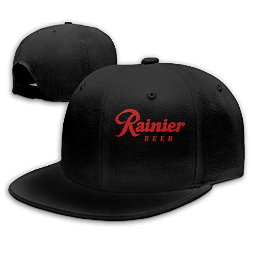 D5LGI4N Rainier Beer Fashion Personalized Baseball Cap for Mens&womensOne Size Black