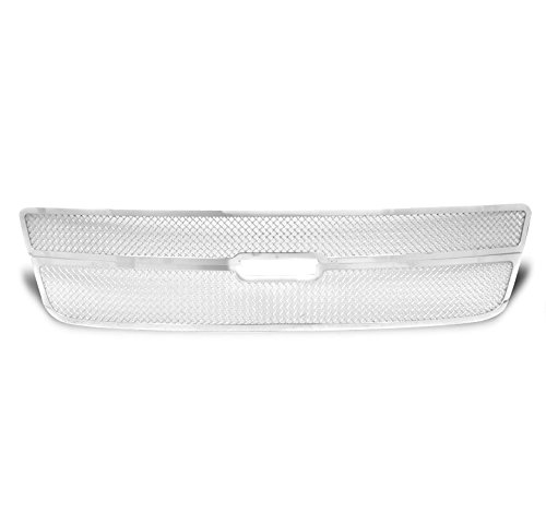 ZMAUTOPARTS Chevy Avalanche Front Upper Stainless Steel Mesh Grille Grill Chrome 2Pcs
