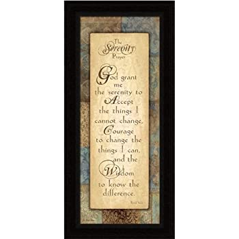 this item serenity prayer framed art print