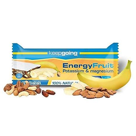 Barrita Energética Energy Fruit Keepgoing 24 x 40g Plátano: Amazon.es: Salud y cuidado personal