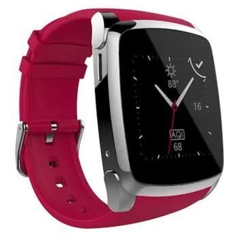 SKY Devices SKY Watch - 2G Smart Watch with Bluetooth Conectivity 1. 54 Inch IPS Screen and 8MB of ROM 0. 03MP Camera - Red