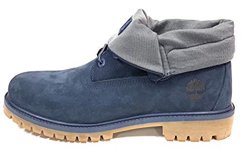 Timberland Men's Icon Collection Single Roll-Top Ankle Boot, Navy Nubuck, 7 Medium US ()
