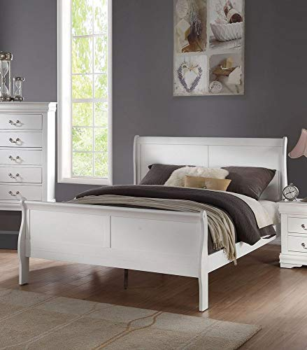 ACME Louis Philippe Queen Bed - - White
