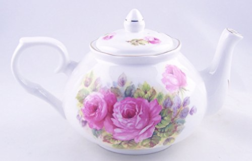 England Pink Rose - Fine English Bone China Teapot - China Pinks Rose Chintz - Adderley of England