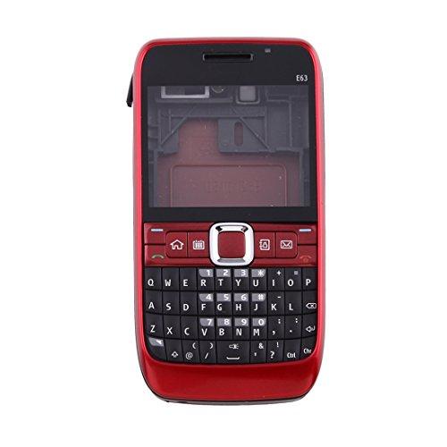 (JINYANG Full Housing Cover (Front Cover + Middle Frame Bezel + Battery Back Cover + Keyboard) for Nokia E63(Black),Nokia Mobile Phone Frame Bezel Plate JINYANG (Color : Red))
