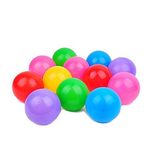 Chuckit Plush Ball (100Pcs Colorful Ball Ocean Balls Soft Plastic Ocean Ball Baby Kid Swim Pit Toy , Kids Toy Water Swim Pit)