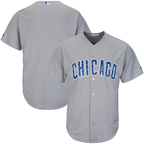 Majestic Chicago Cubs MLB Mens Cool Base Replica Gray Jersey Big & Tall Sizes (4XT)