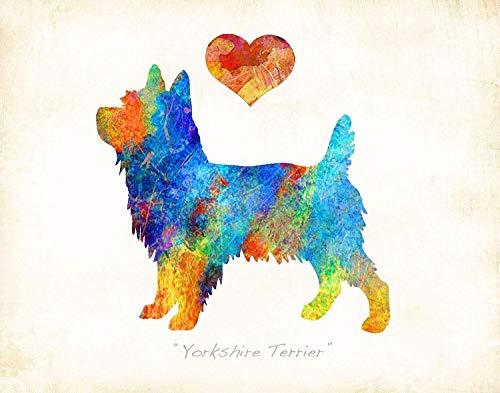 YORKIE YORKSHIRE TERRIER Dog Breed Art Print by Dan Morris