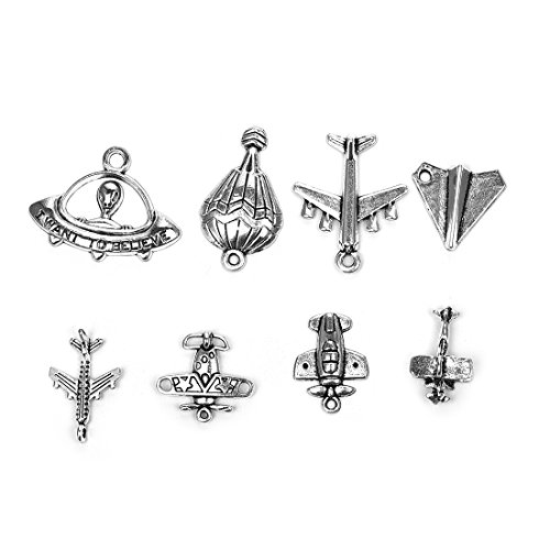 Flying Themed Charms Airplane Charm Collection Antique Silve
