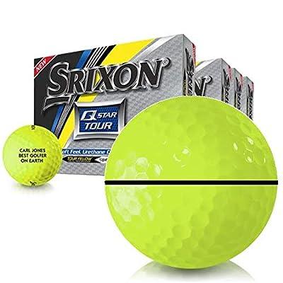 Srixon Q-Star Tour 2 Yellow AlignXL Personalized Golf Balls - Buy 3 Get 1 Free