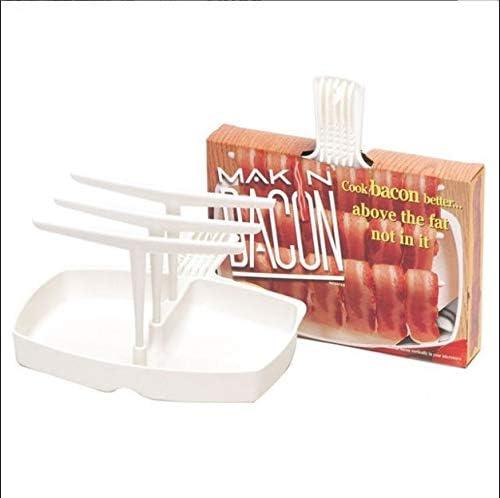Microwave Bacon Roast Rack Meat Hanger Bacon Cooker Tray Crisp Breakfast Meal Home Dorm Use Tools