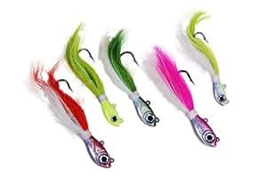 2 OZ Buck Tail Jig Fishing Lure glow/white