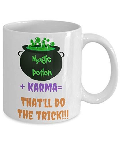 CrossLove - Halloween Mug, Halloween Gift, Magic Potion, Trick or Treat, Karma, Hocus Pocus, Coffee Mug -11oz Ceramic Coffee Novelty Mug/Tea Cup, High Gloss (Magic Set Hocus Pocus)