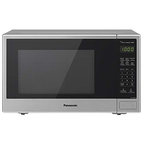 Panasonic Countertop Microwave Oven with Genius Sensor Cooking, Quick 30sec, Popcorn Button, Child Safety Lock and 1100 Watts of Cooking Power - NN-SU696S - 1.3 cu. ft (Stainless Steel) (Emerson Stainless Steel Microwave 1-3 Cu Ft)