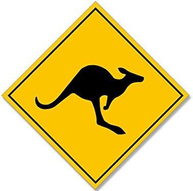 Canguro OZ Australia Divertente Porta Strada Segnale Adesivo Decalcomania Vinile