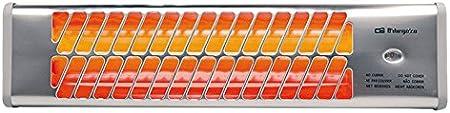 Orbegozo BB 5000 Estufa de Cuarzo de Baño, 1200 W, plata