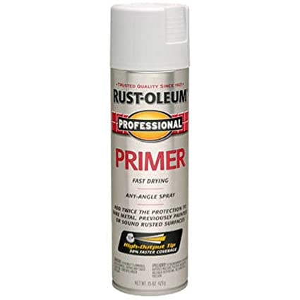 Paint And Primer >> Rust Oleum 7582838 Professional Primer Spray Paint 15 Oz Gray Primer