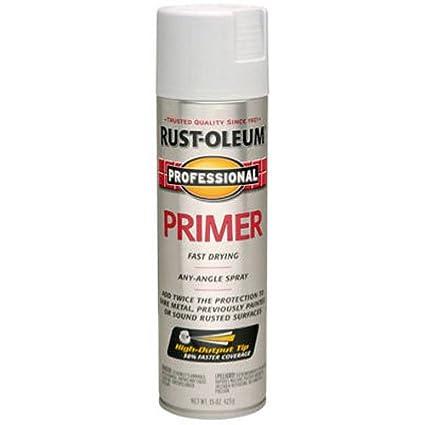 Paint And Primer >> Amazon Com Rust Oleum 7582838 Professional Primer Spray Paint 15