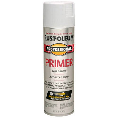 (Rust-Oleum 7582838 Professional Primer Spray Paint, 15 oz, Gray Primer)