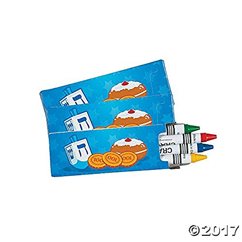 Hanukkah Crayons - 24 packs Chanukah Favor