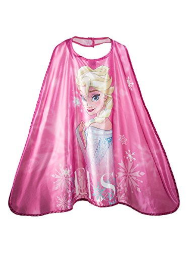 Official,, Pretend Play, Kids' Fantasy Halloween Costume, Boys/Girls Age 3-10, Authorized Kids Cape (FROZEN - Elsa)