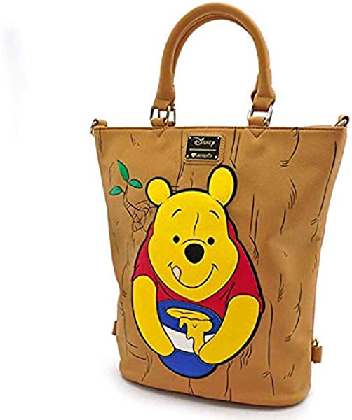 08192b38a45 Amazon.com  Loungefly Winnie The Pooh Convertible Tote Backpack ...