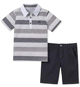 Amazon Com Calvin Klein Baby Boys 2 Pieces Polo Shorts