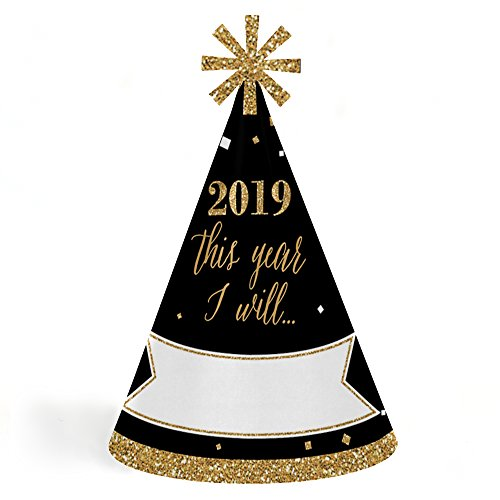 New Year's Eve Resolution Party Hats and Signs from $9