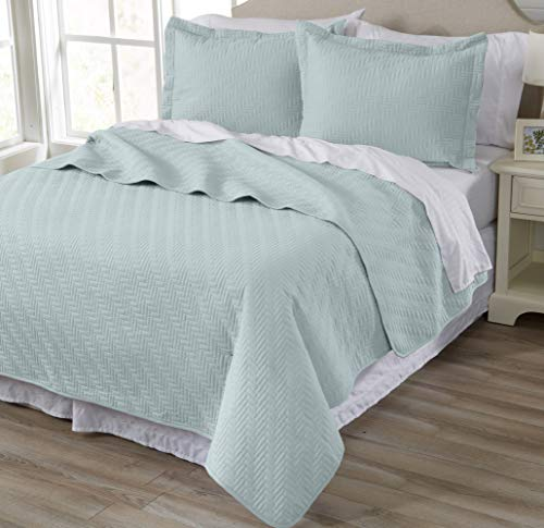 Home Fashion Designs 3-Piece Luxury Quilt Set with Shams. Soft All-Season Microfiber Bedspread and Coverlet in Solid Colors. Emerson Collection Brand. (King, Won - 3 Piece Fashion
