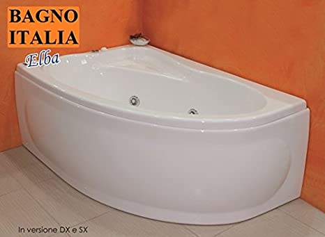 Vasche Da Bagno Angolari 150 100 : Nyke vasca idromassaggio asimmetrica