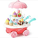 Nabhya Ice Cream Play Cart Kitchen Set Toy Without Lights and Music, Small