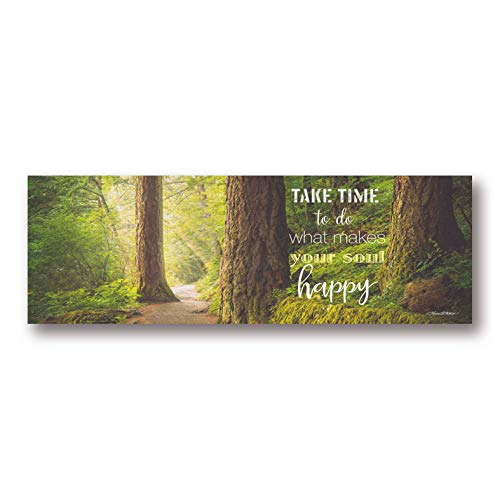 Gango Home Décor Contemporary Soul Happy by Karen Tribett (Printed on Paper); One 20x8in Unframed Paper Poster