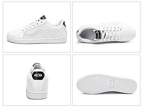 Scennekクラシックレザースポーツシューズレディース通気性ノンスリップカジュアルシューズファッションライト白い靴