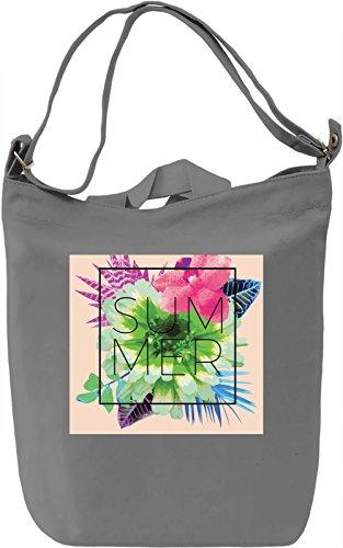 Summer Borsa Giornaliera Canvas Canvas Day Bag| 100% Premium Cotton Canvas| DTG Printing|