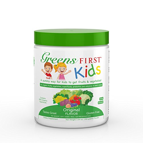 Greens First Kids - Original - Improved Nutrition, Better Immunity, Decreased Obesity Risk & Better School Performance, Essential Source Of Vitamins & Minerals, USDA - 5.64 Ounce 30 (Greens First Meal)