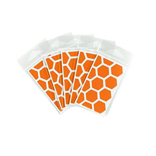 RydeSafe Reflective Decals - Hexagon Mini - 5 Pack - (Orange),