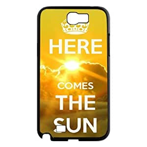 Here Comes The Sun New Printed Case for Samsung Galaxy Note 2 N7100, Unique Design Here Comes The Sun Case