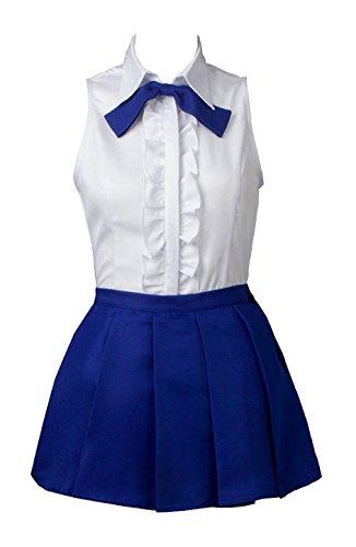 ZYHCOS Womens Fairy Blue Sleeveless Short Skirt Cosplay Costume (Womens-XL)