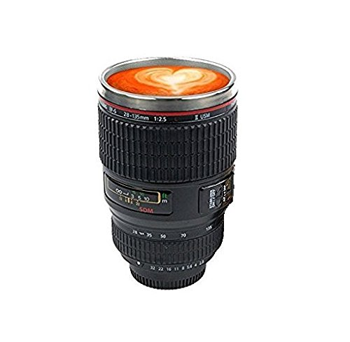 SahiBUY Camera Lens Thermos Coffee Mug